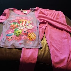 Girls shopkins fleece pjs